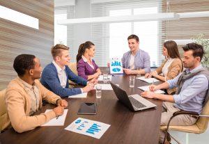reunião de negocios